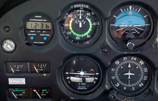 Instruments of Cessna 172 Light Aircraft