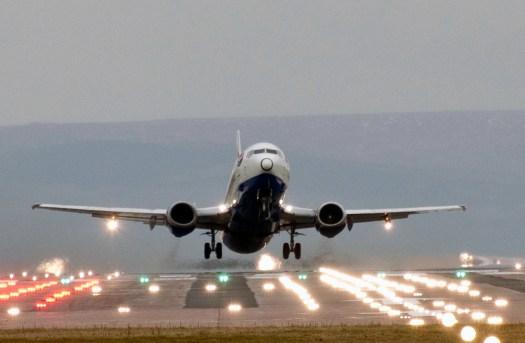 British Airways Plane at Takeoff