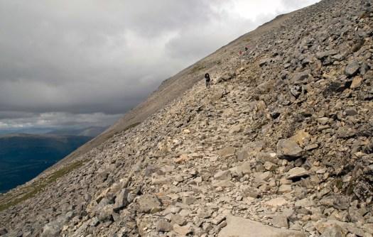 The path up Ben Nevis, Scotland