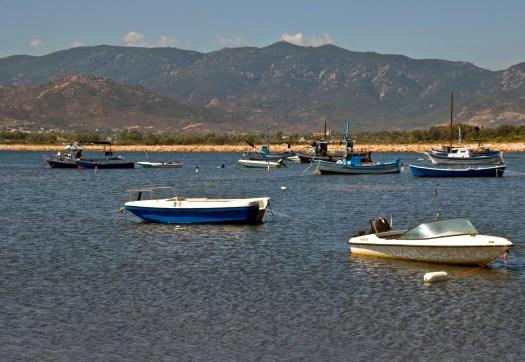 Boats at Pula, Sardinia, Italy