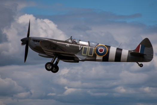Grace Spitfire at Farnborough Airshow
