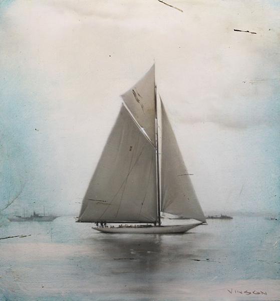 'Sea Smoke', 11 x 10.25, Oil on Panel, SOLD