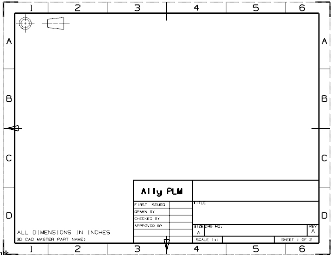 How To Create A Drawing Template And Add To Nx 75 Template List