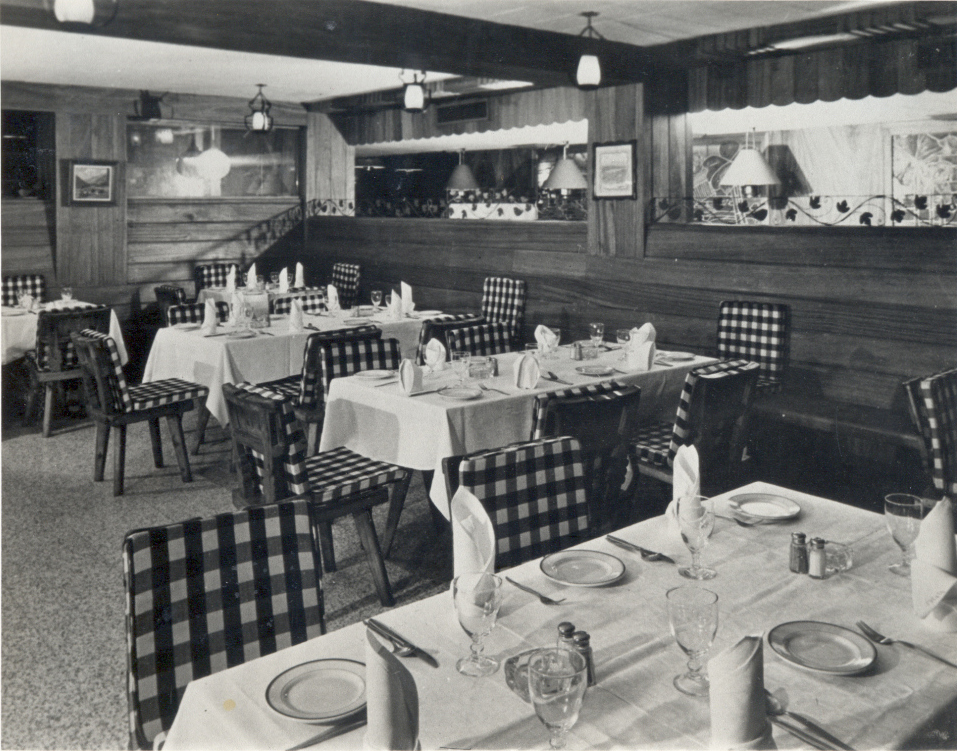 Interior of the Swiss Inn