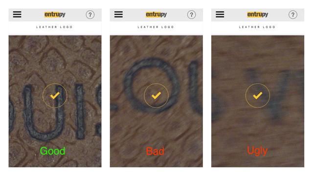 Interior region tutorial when authenticating with Entrupy