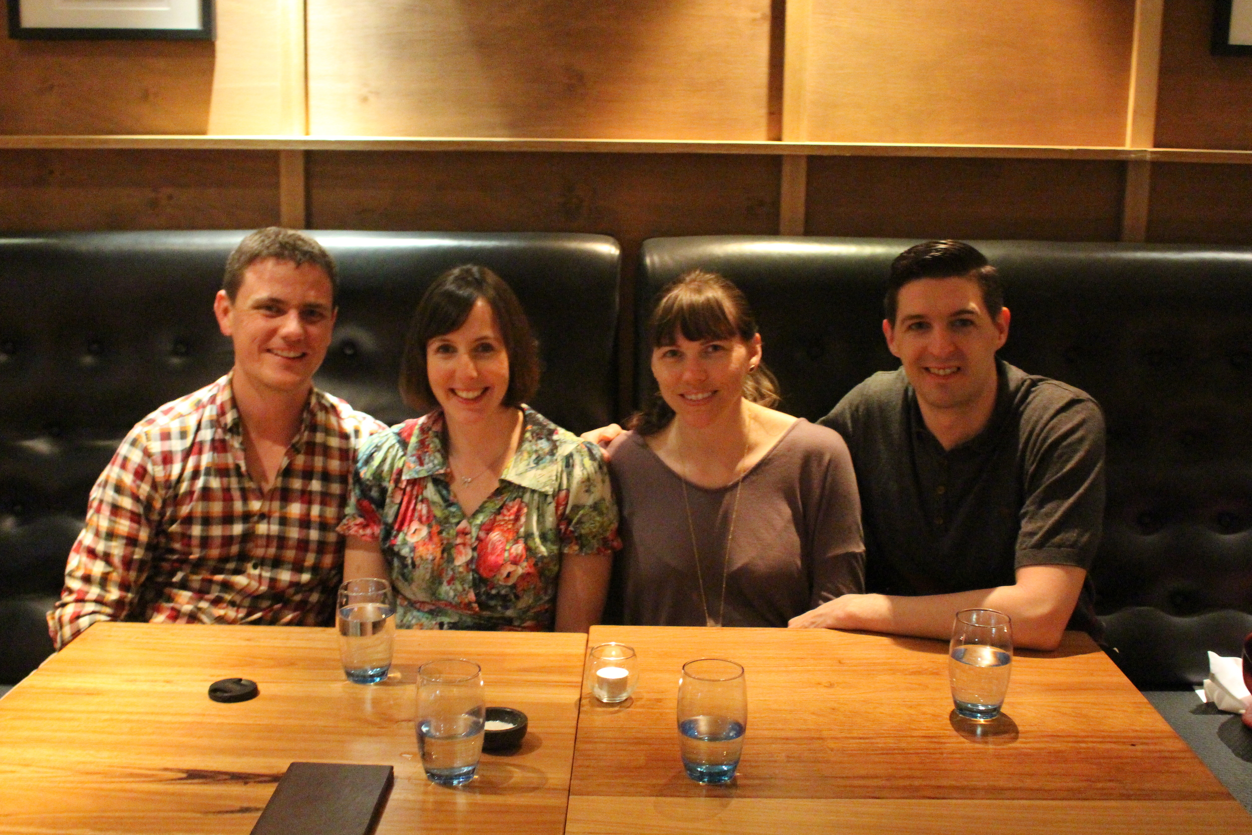 The Auld's, Ben and Megan with us at Public in Brisbane
