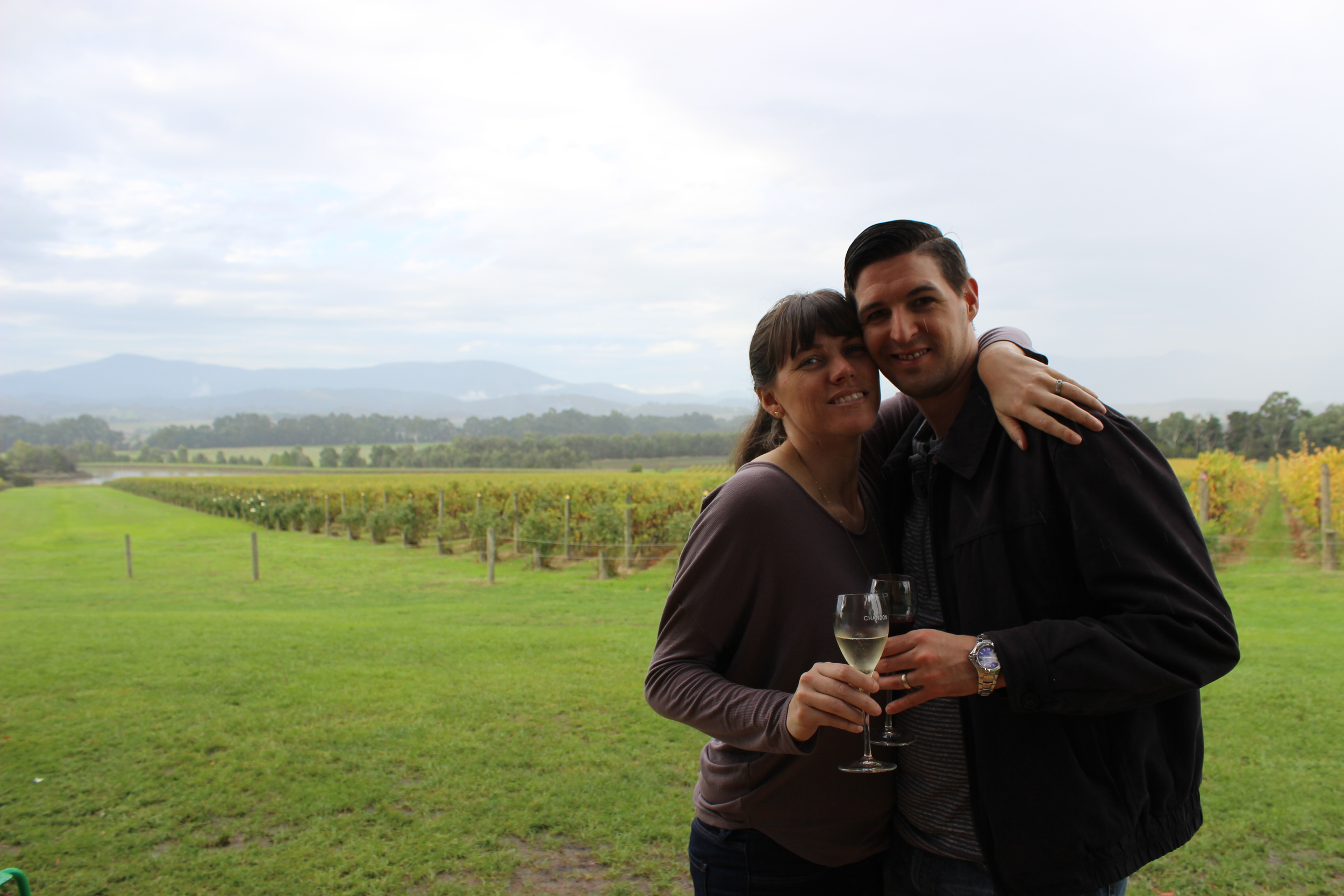 At Moet and Chandon in the Yarra Valley