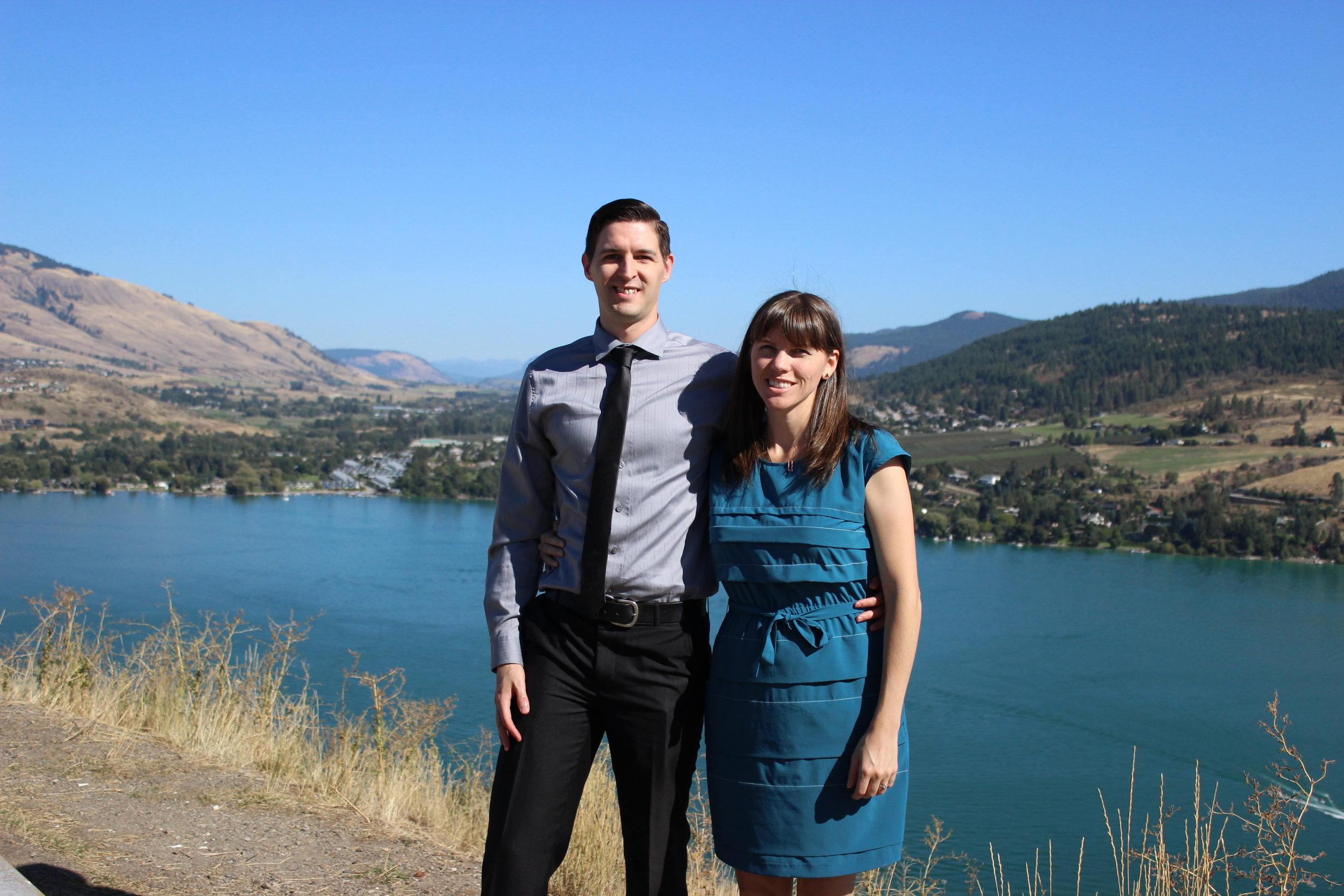 At a wedding near Vernon, BC
