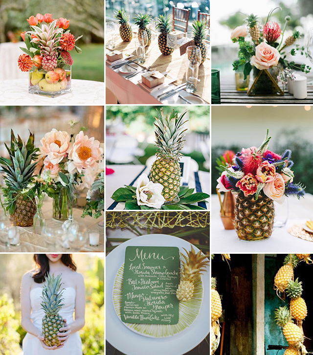Eco Friendly Pineapple Decor Costa Rica Wedding