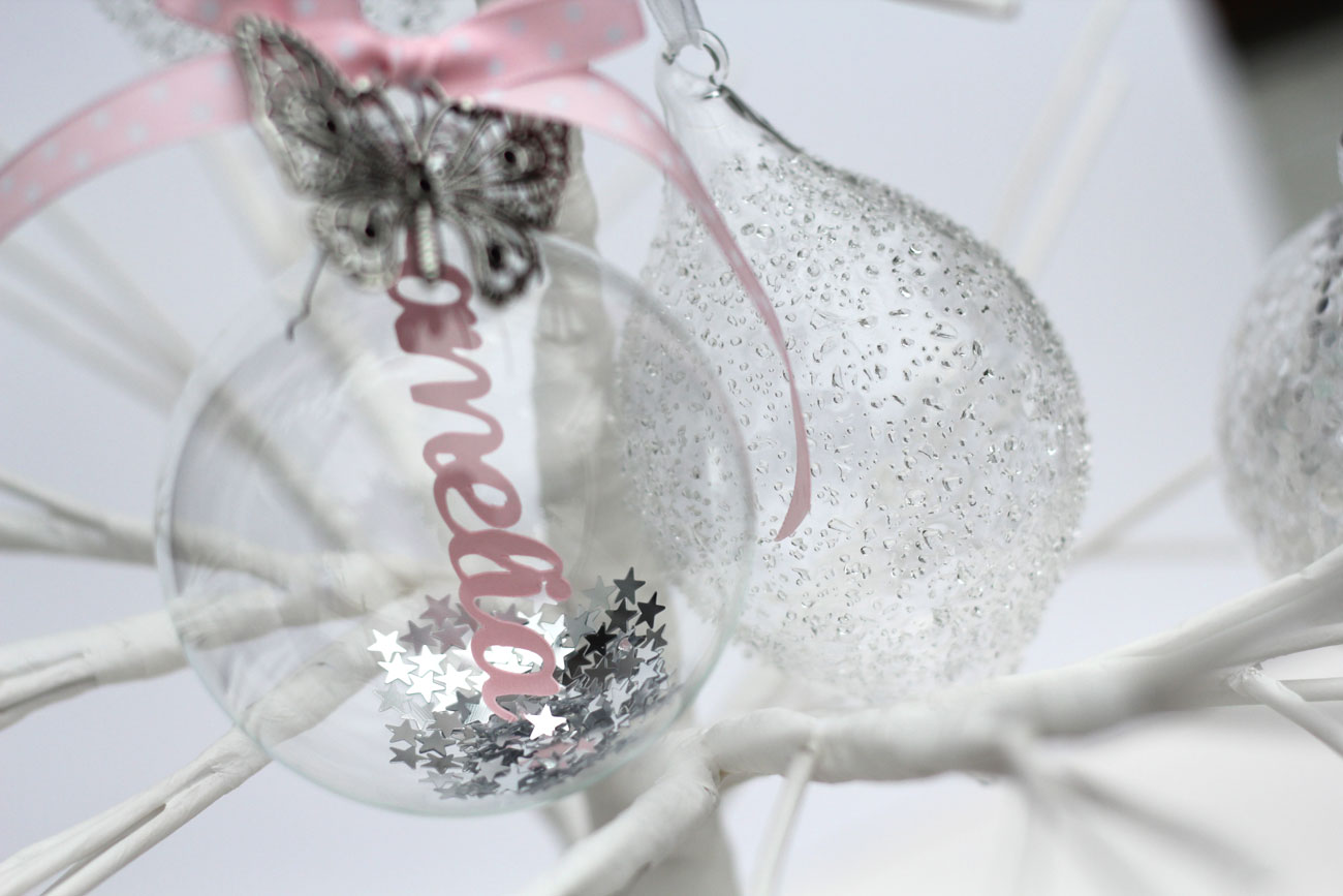 Theyre Here Personalised Papercut Baubles Not Just For