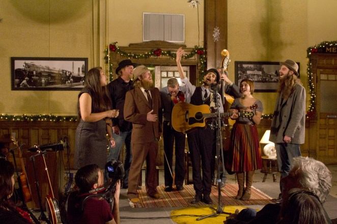The Haunted Windchimes, Grant Sabin, Jason Miller, Joe Johnson, and The Changing Colors cap off 'A Concert for Sophie.' PULP and Blank Tape Records would like to thank the musicians, Tim Sparks of Sparks Brothers Media for filming the evening, Joe and Jim Koncilja for donating the Depot, and all the staff for making this night so very special. Photo by Kara Mason