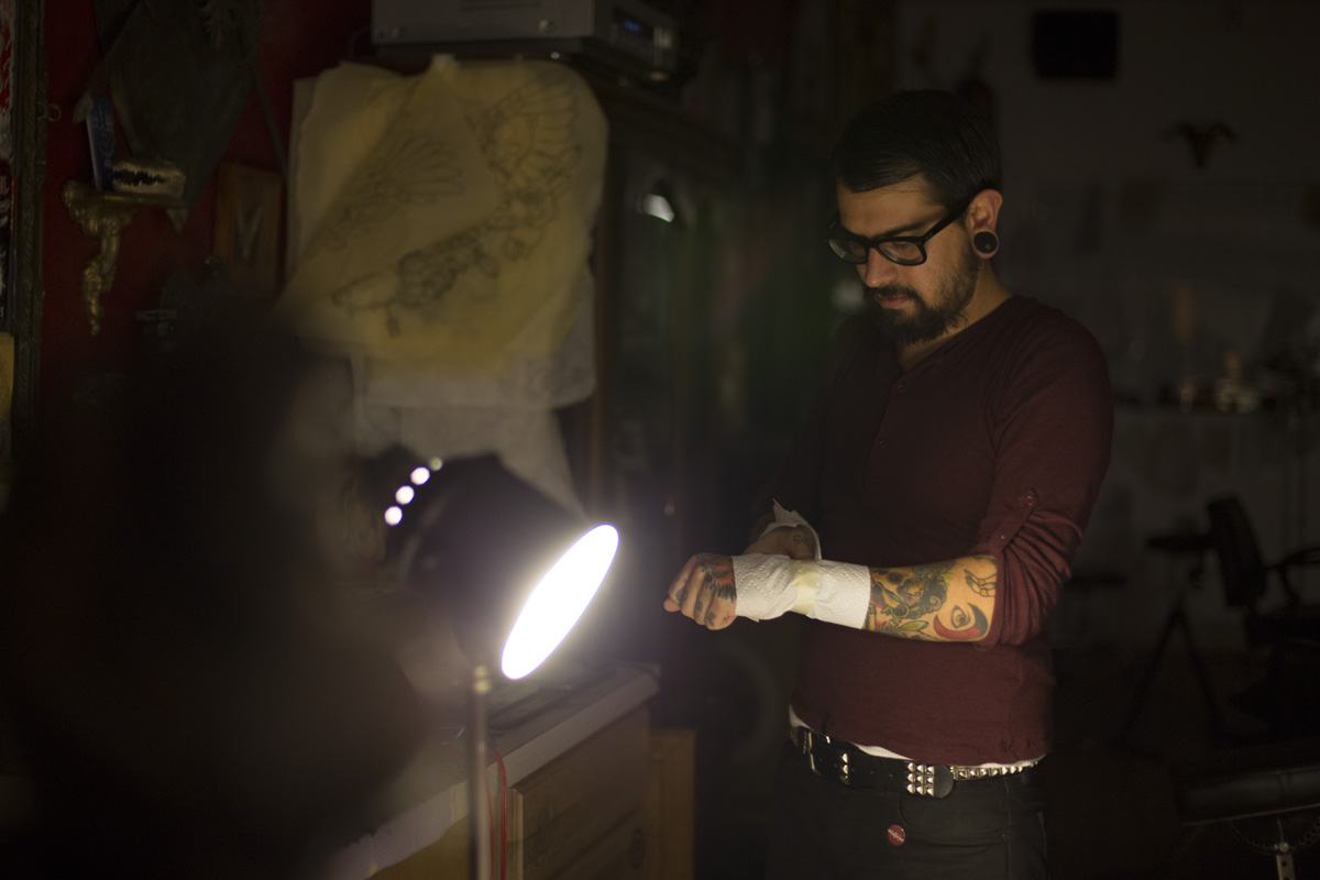 Joaquin Molina of Arcanum Tattooing | photo by Malissa Ahlin