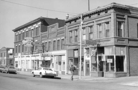 'B' Street in the 1980s. | Western History/Genealogy Dept., Denver Public Library