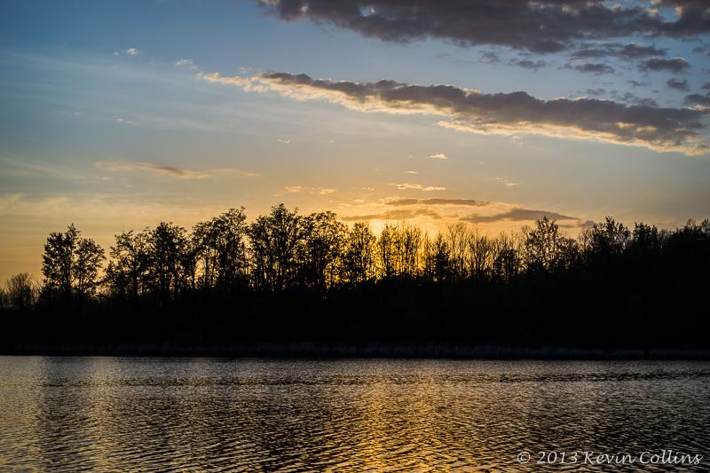 Sunset Over the Otonabee River