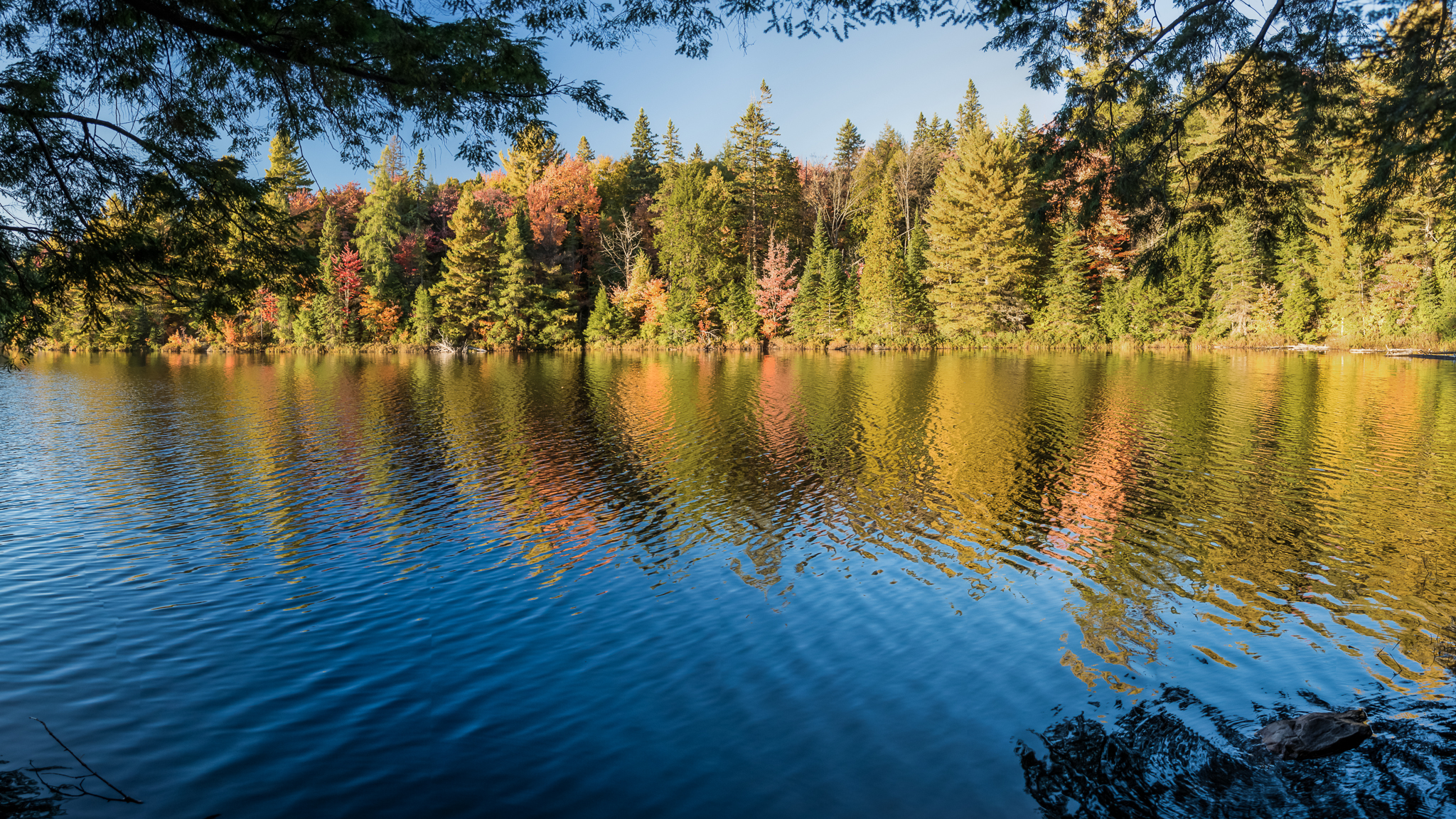 Peck Lake (1/80s, f/6.3, ISO400 - 7 shot panorama)