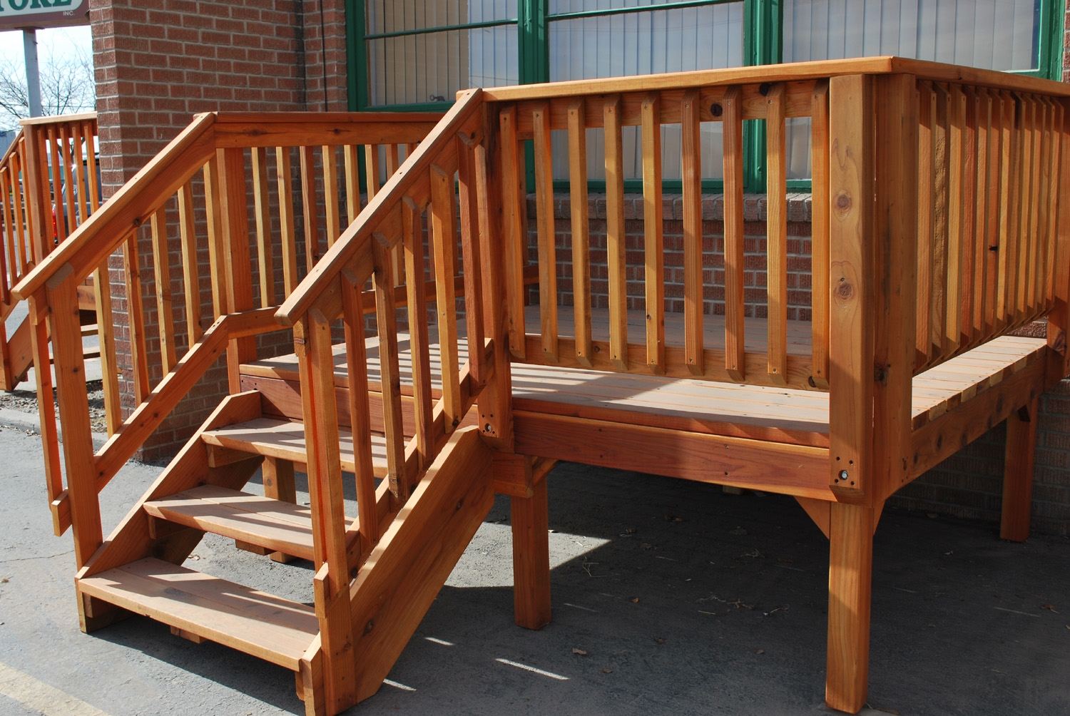 Spec Deck Pre Built Deck — The Redwood Store   Ready Made Outdoor Stairs