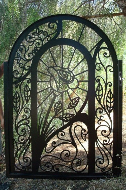 Custom ornamental garden gate by Davinci Metal Works ~ Style Estate- 15 Gorgeous Garden Gates