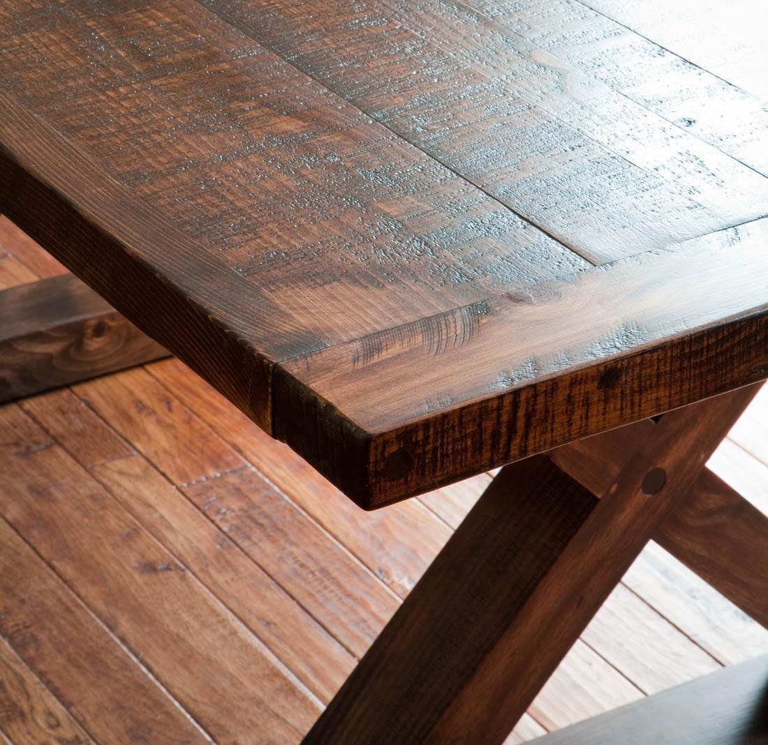 Rough Sawn Barnwood Kitchen Table Vale Lorin Bruck Design