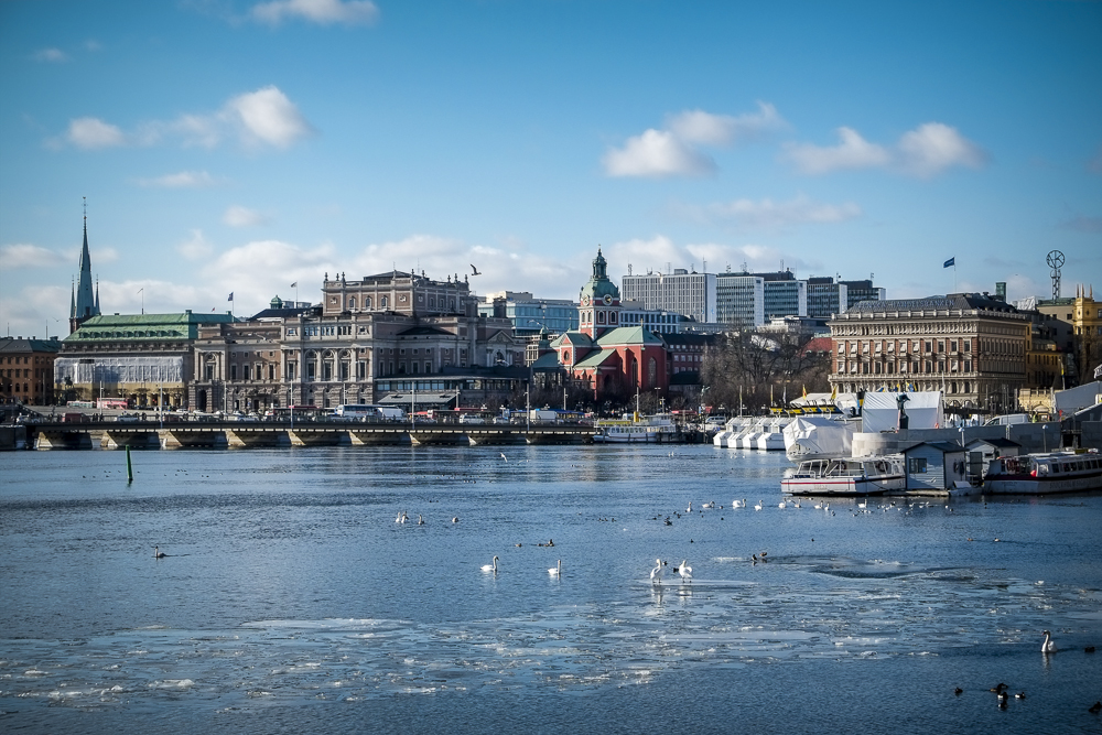 Stockholm, seen from Skeppholmen in march 2013