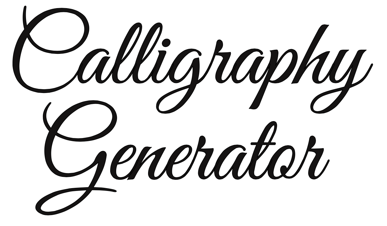 fancy cursive writing generator
