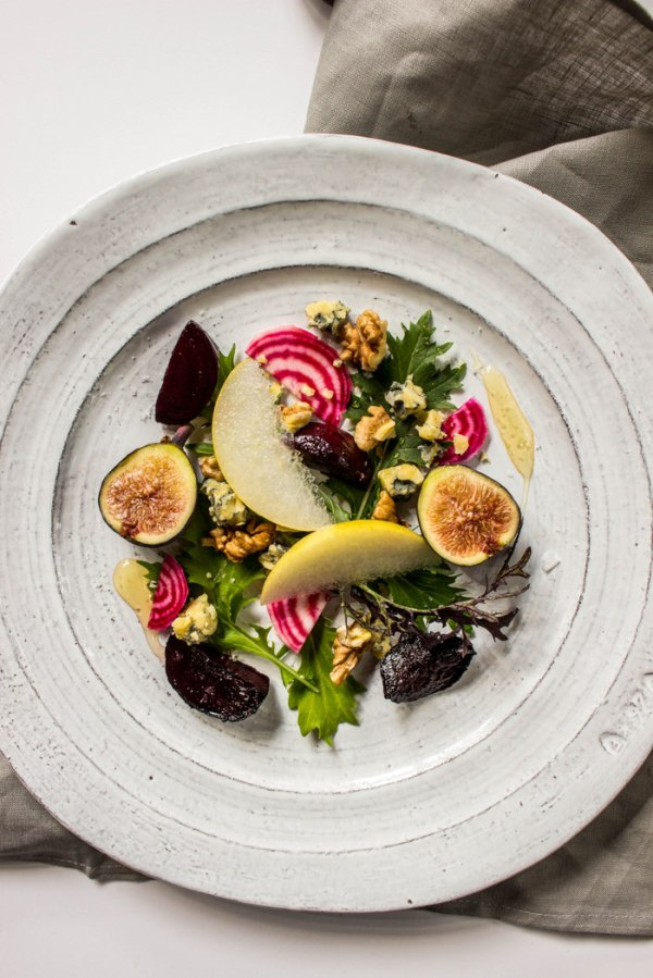Asian Pear Salad with Roasted Beets Figs Local Haven