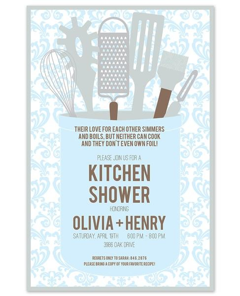 Kitchen Themed Bridal Shower Invitations