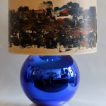 A Blue Glass Table Lamp Pruskin Gallery