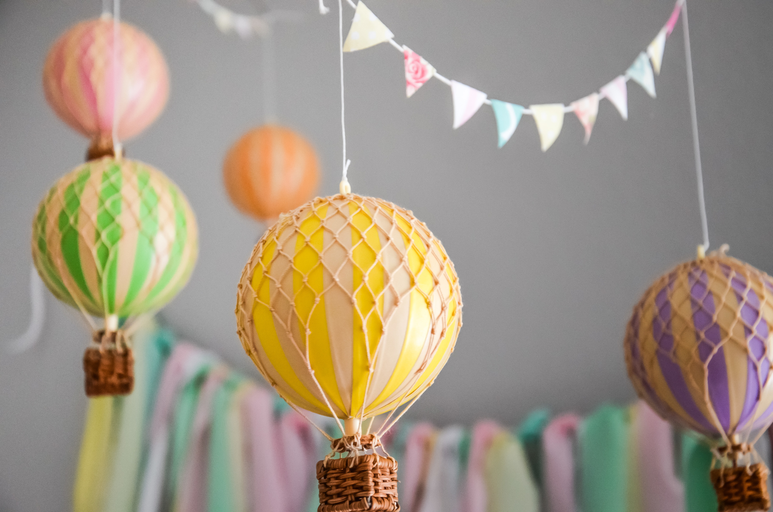 Hot Air Balloon Nursery For Baby K The Bloom Print Project