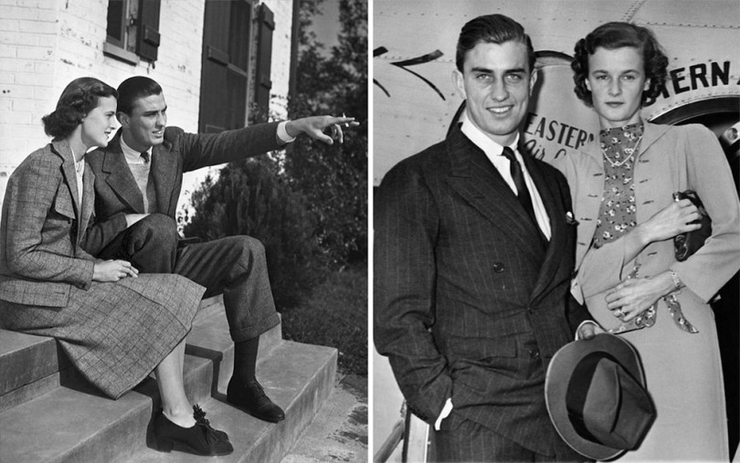 Ethel and Franklin Jr. at the beginning of their marriage, source.