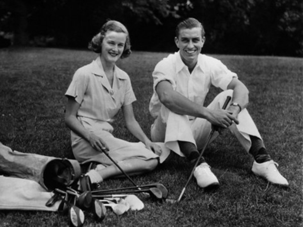 Ethel, Franklin and a game of golf, source.