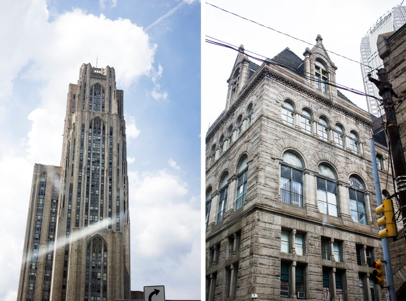 The Cathedral of Learning at Pitt where I went to school. With all those stories my class was of course...in the basement. What a view :/