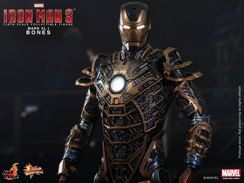 Hot Toys IRON MAN 3 Bones Mark XLI Collectible Figure GeekTyrant