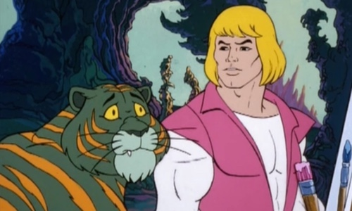 10 Annoying Cartoon Characters From the 80s and 90s     GeekTyrant Prince Adam and Cringer   He Man and the Masters of the Universe