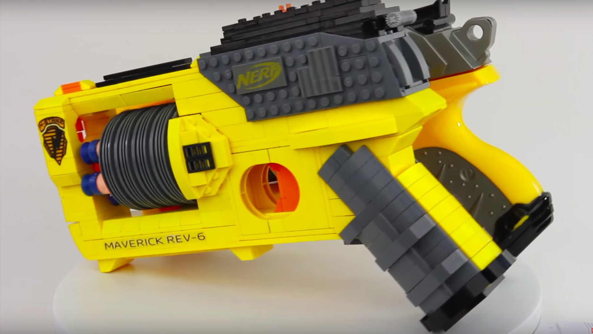 Someone Made A Fully Functioning NERF Gun Out Of LEGO Pieces GeekTyrant