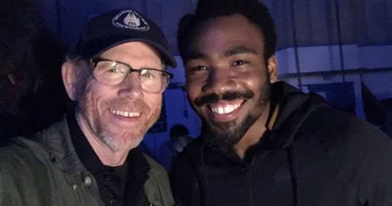 Ron Howard and Donald Glover Filming Solo A Star Wars Story