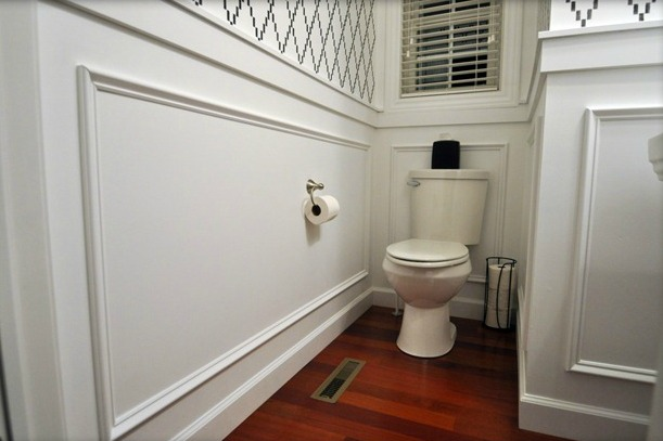 Then And Now- Powder Room