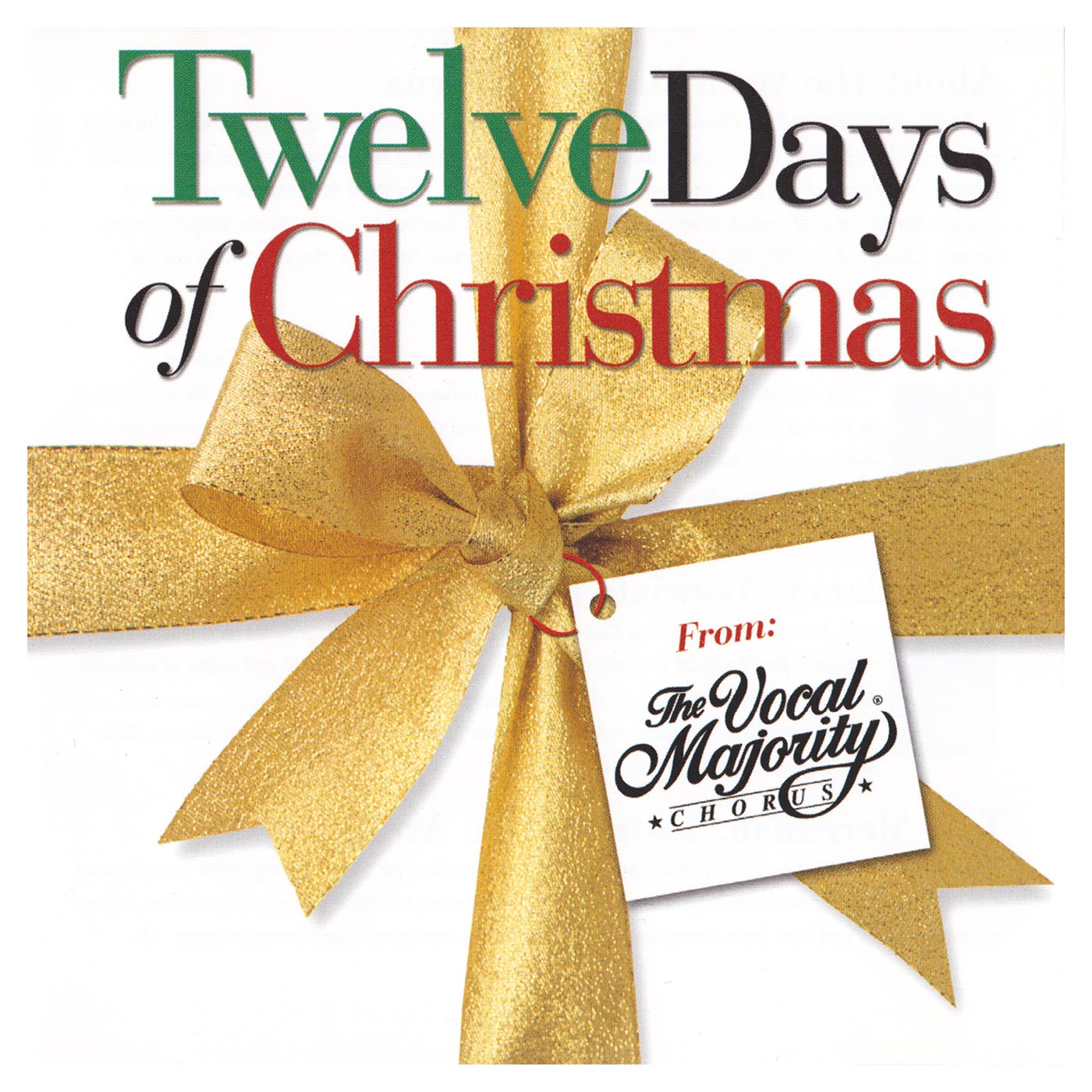 Twelve Days Of Christmas Vocal Majority Pure Harmony