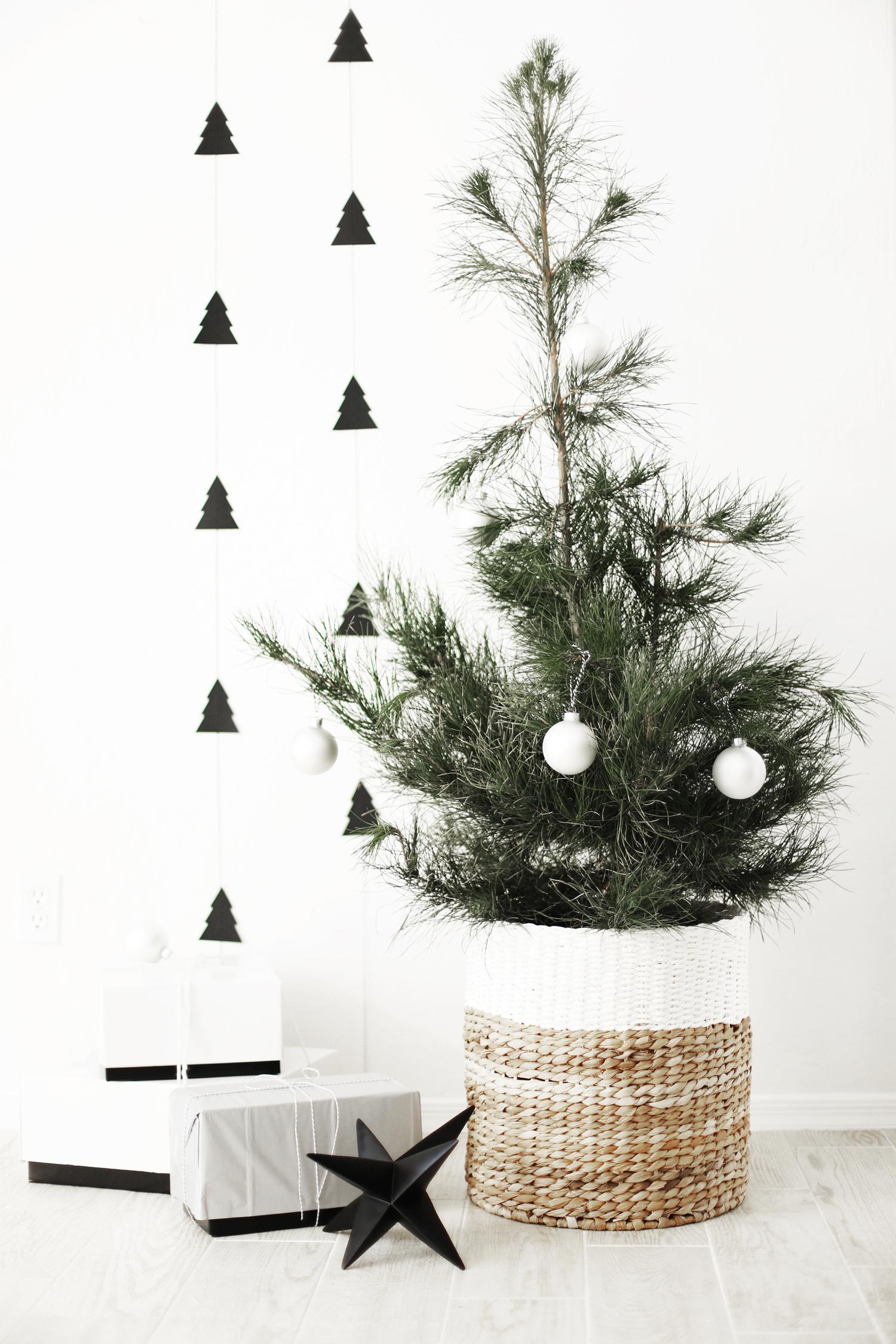DIY Christmas Tree Garland A Charlie Brown Tree Kristi