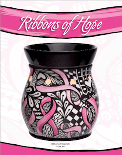 Scenty's Fall/Winter cause centerpiece: their first cause product back by popular demand called Ribbons of Hope benefitting the National Breast Cancer Foundation in the U.S.