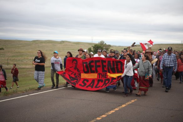 Marchers at Standing Rock, photo by Nicholas Ward
