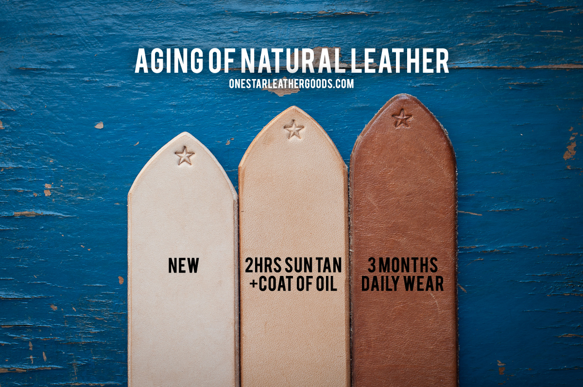 Veg Tanned Leather Over Time