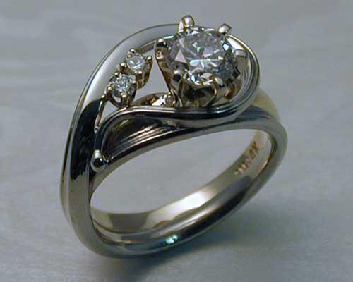 Asymmetrical Engagement Rings Metamorphosis Jewelry