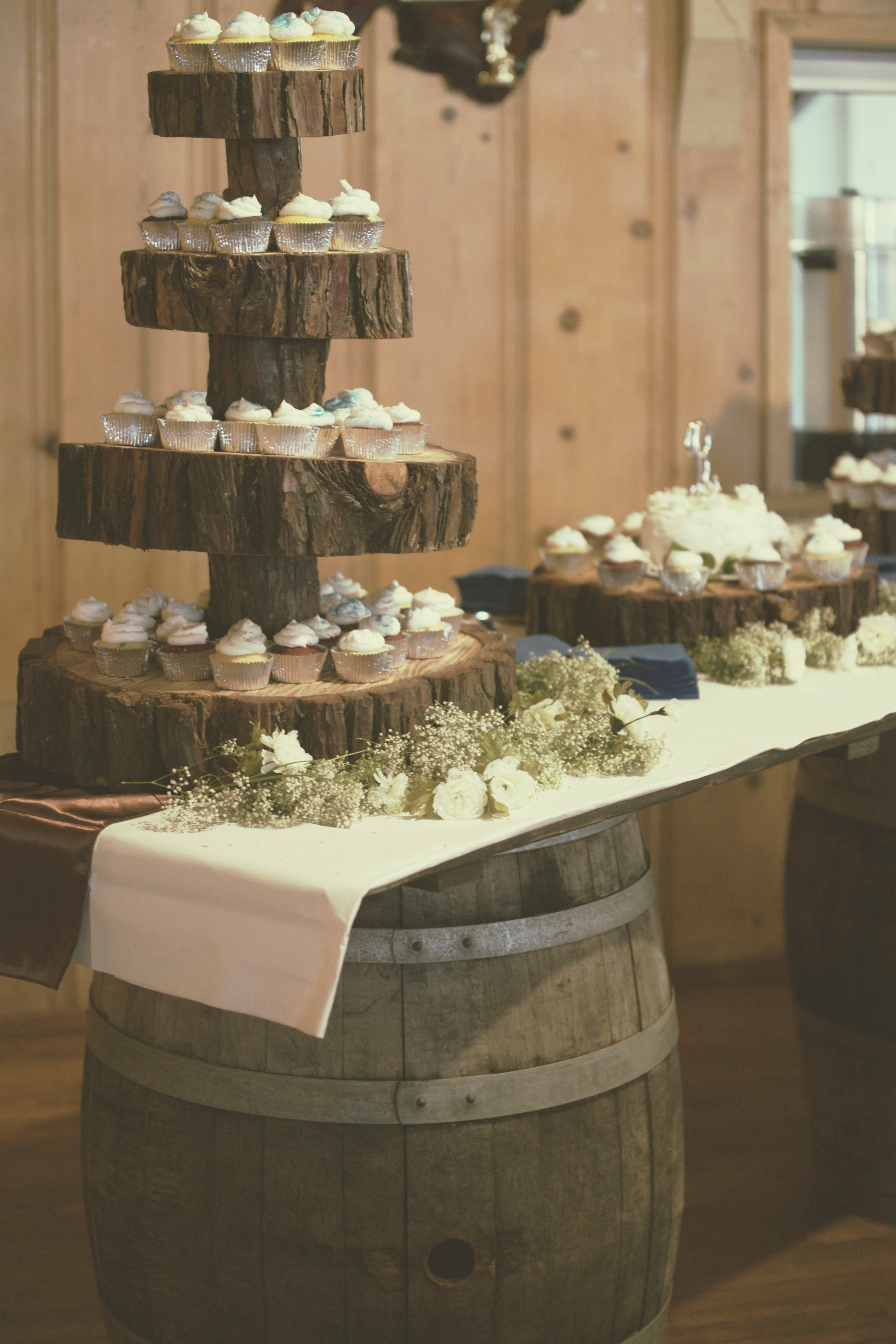 Vintage Wine Barrel Bar Wedding