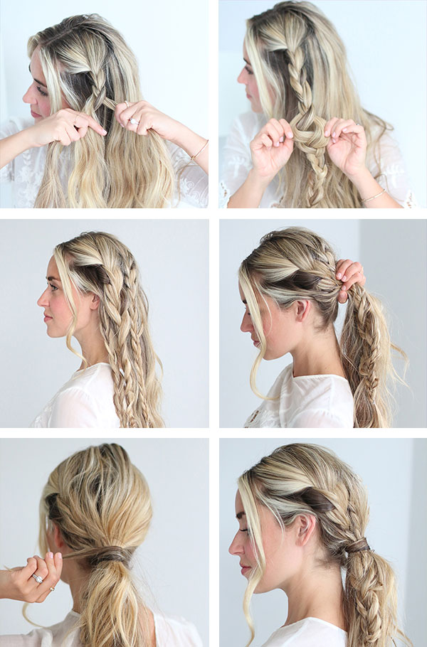Cara Jourdan Braided Ponytail Tutorial