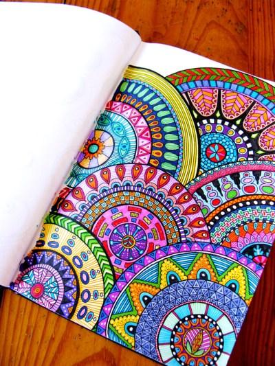 Art Journals Brightly Colored Zentangle Mandala Art Journal Page Journaling Creativity Productivity