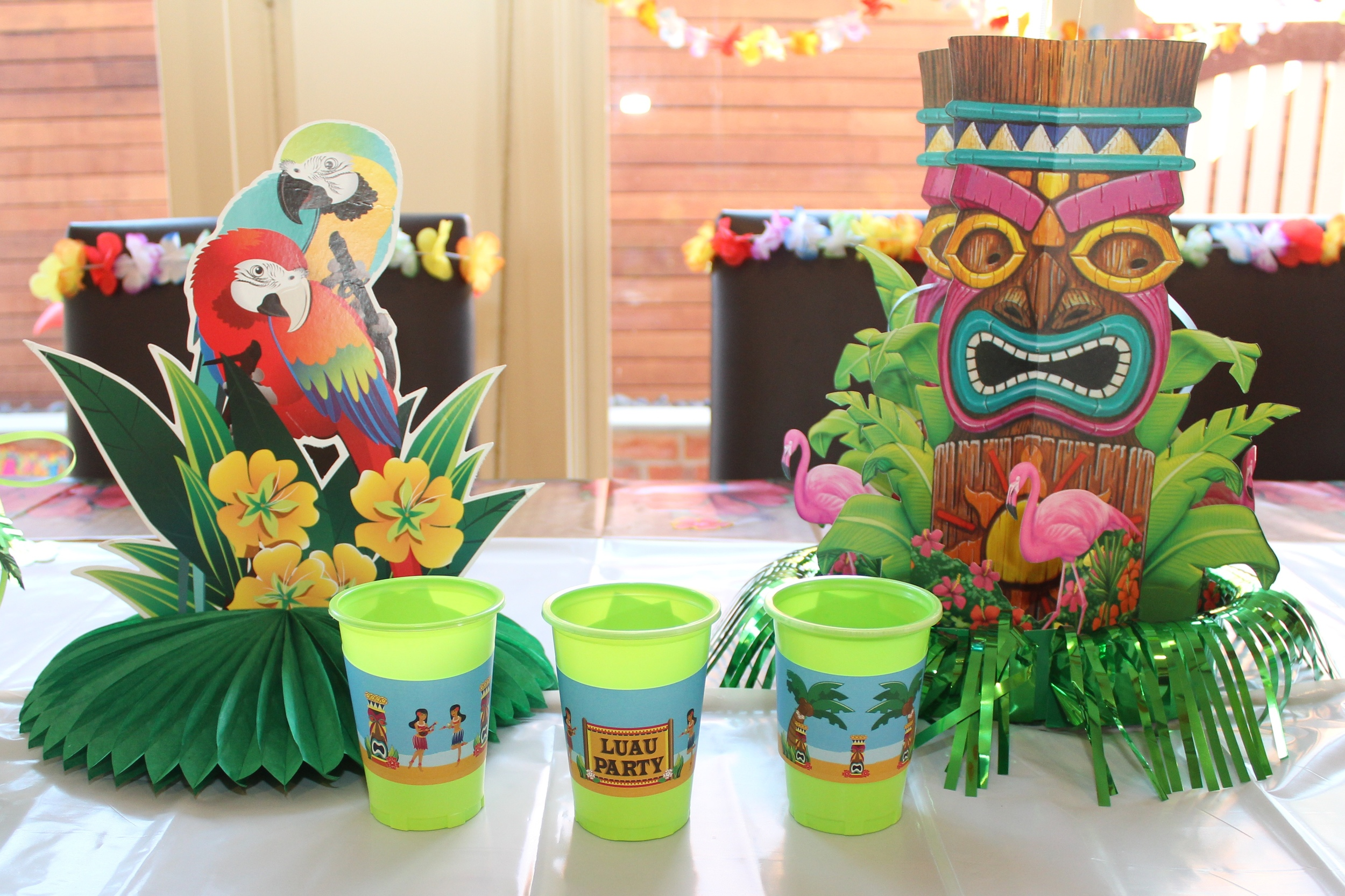 Hawaiian Luau Party With Desert Table And Games Chic