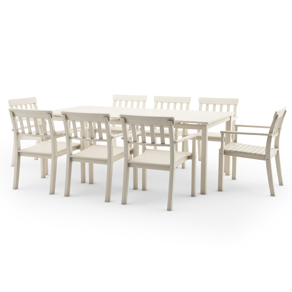 Ikea Angso Set Of Eight Armchairs And Table White