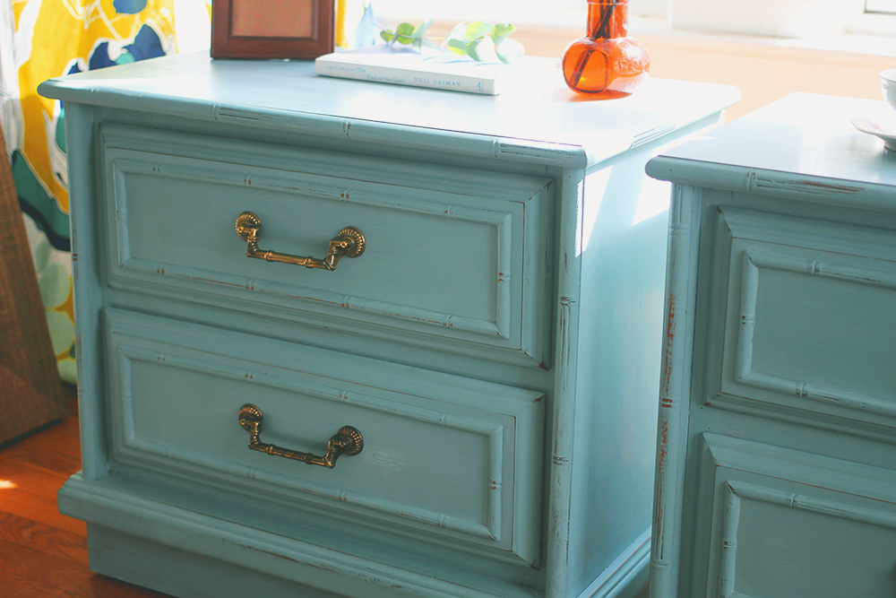 Bringing Color Into The Bedroom: Tiffany Blue Nightstands