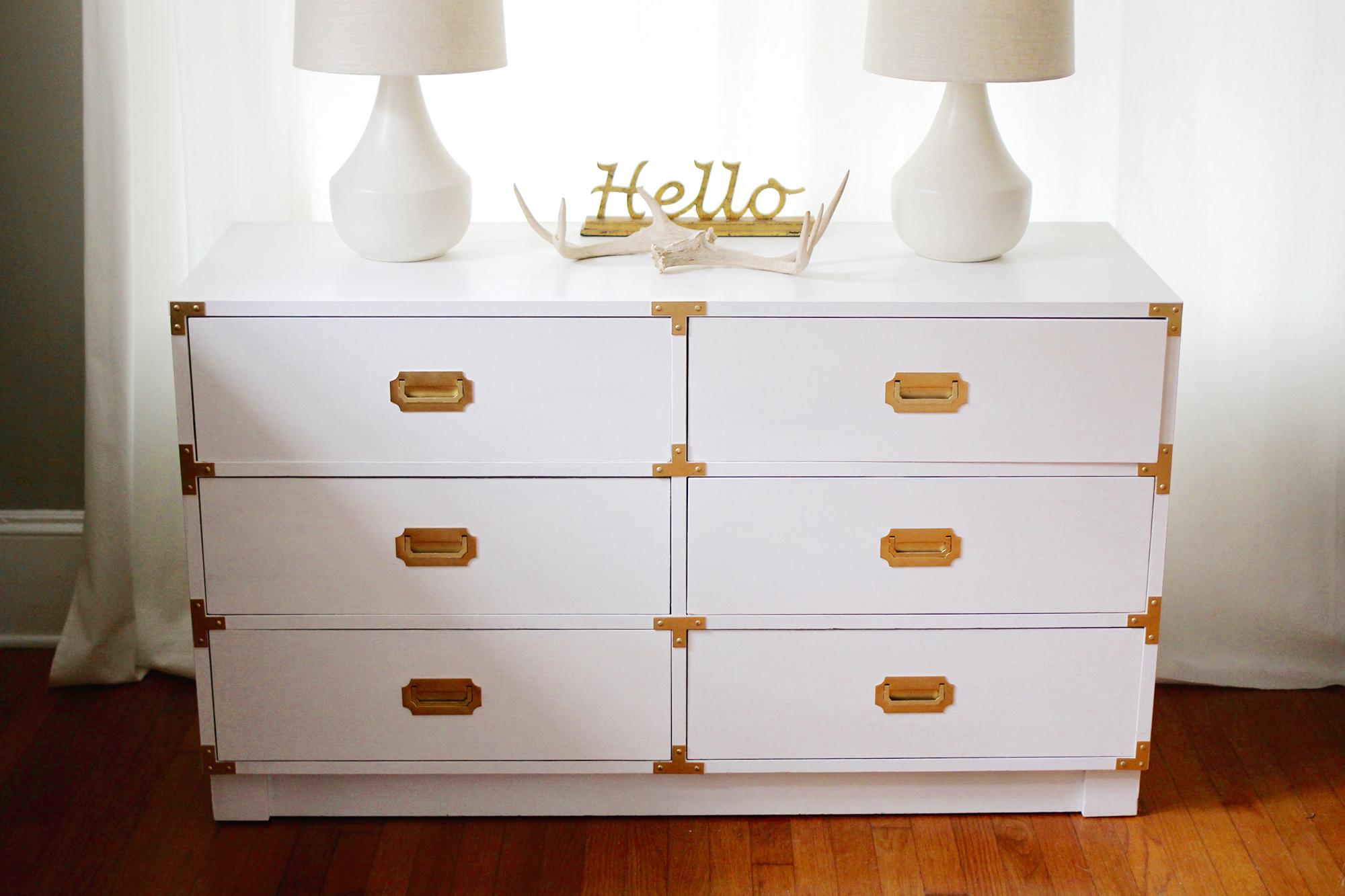 White Wood Dresser Sale