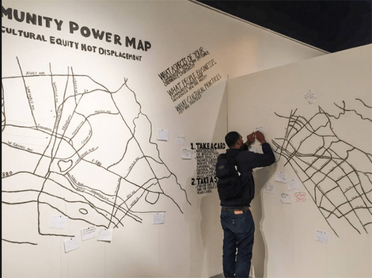 Community Power Map at the Betti Ono Gallery in Oakland      Anti     Community Power Map at the Betti Ono Gallery in Oakland